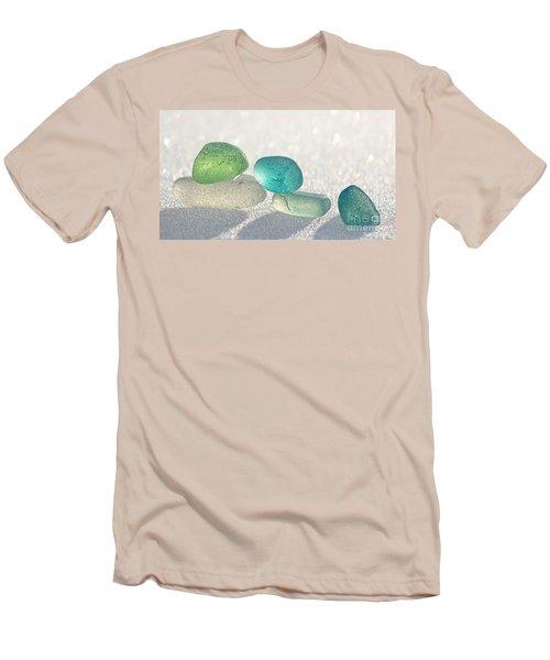 Sparkling Sea Glass Friends Men's T-Shirt (Slim Fit) by Barbara McMahon