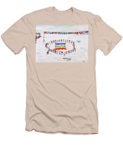 Speranza Di Pace Men's T-Shirt (Slim Fit) by Loredana Messina