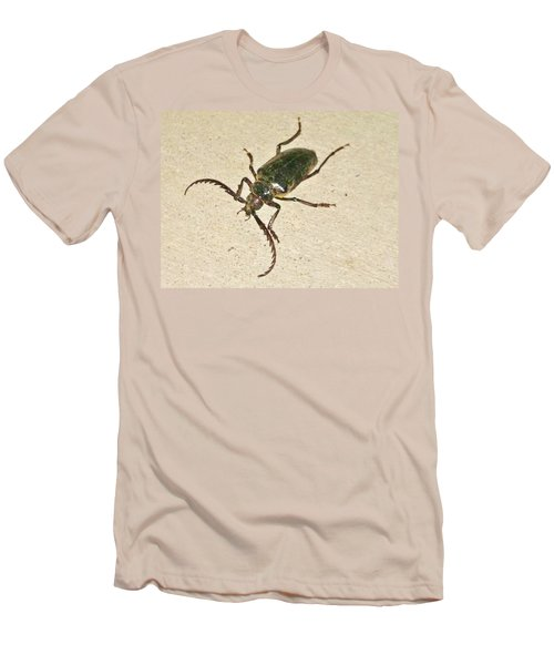 Men's T-Shirt (Slim Fit) featuring the photograph Spike by Angela J Wright