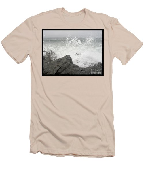 Splash And Gray Men's T-Shirt (Athletic Fit)