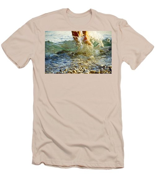Splish Splash Men's T-Shirt (Slim Fit) by Heiko Koehrer-Wagner