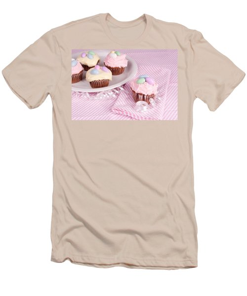 Cupcakes With A Spring Theme Men's T-Shirt (Athletic Fit)