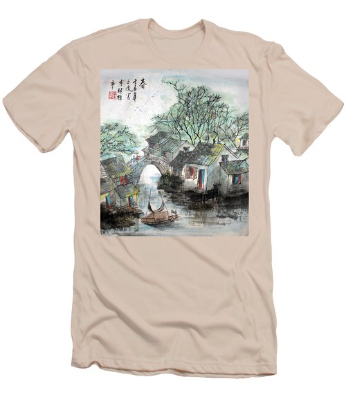 Men's T-Shirt (Slim Fit) featuring the photograph Spring In Watertown by Yufeng Wang