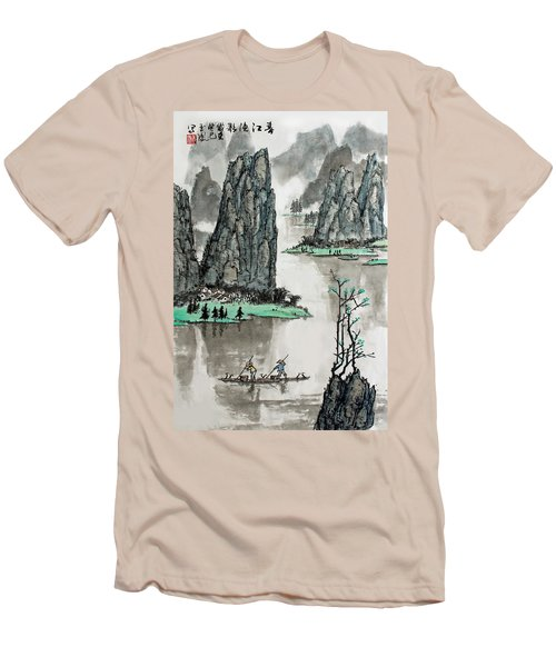 Spring River Men's T-Shirt (Slim Fit) by Yufeng Wang
