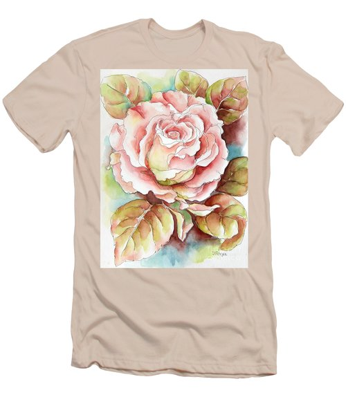 Spring Rose Men's T-Shirt (Slim Fit) by Inese Poga