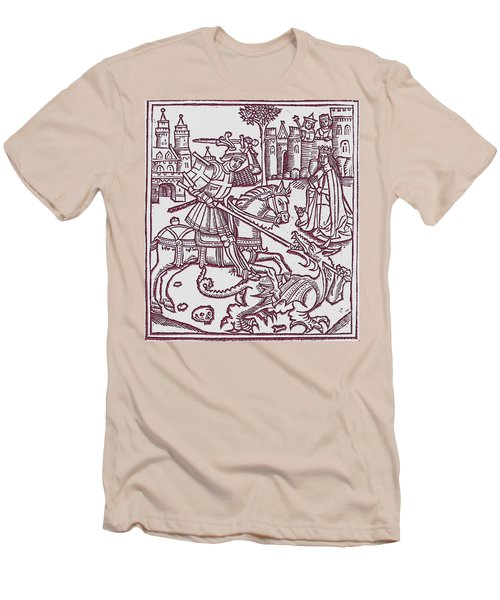 St. George - Woodcut Men's T-Shirt (Athletic Fit)