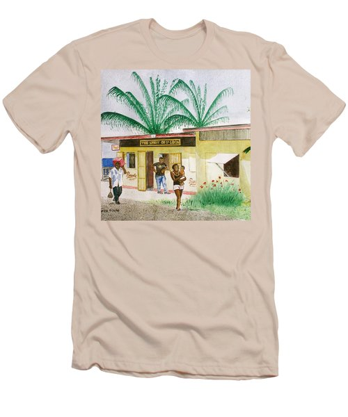 St. Lucia Store Men's T-Shirt (Slim Fit) by Frank Hunter