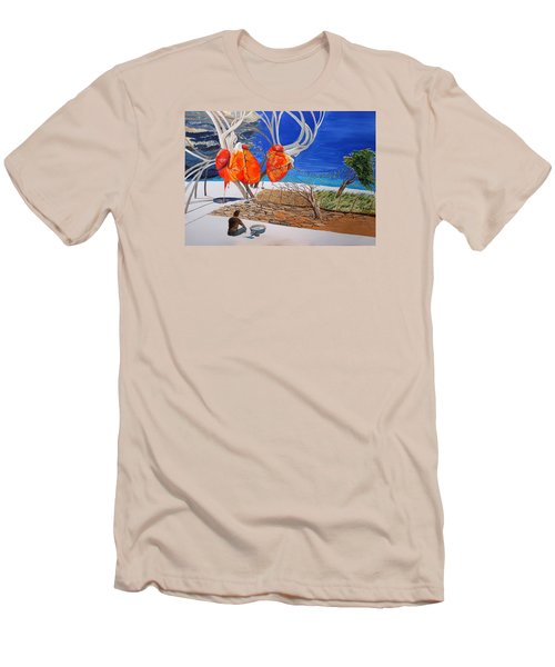 State Of Emotion The Pulse Let It Work... Men's T-Shirt (Slim Fit) by Lazaro Hurtado