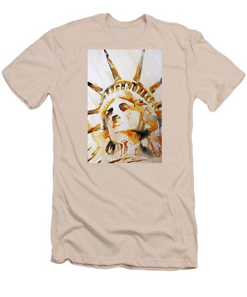 Statue Of Liberty Closeup Men's T-Shirt (Slim Fit)