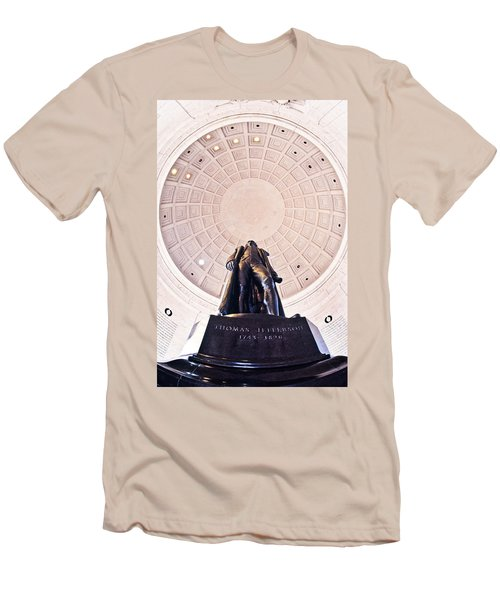 Statue Of Thomas Jefferson Men's T-Shirt (Slim Fit) by Panoramic Images