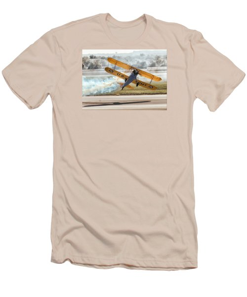 Stearman Model 75 Biplane Men's T-Shirt (Athletic Fit)
