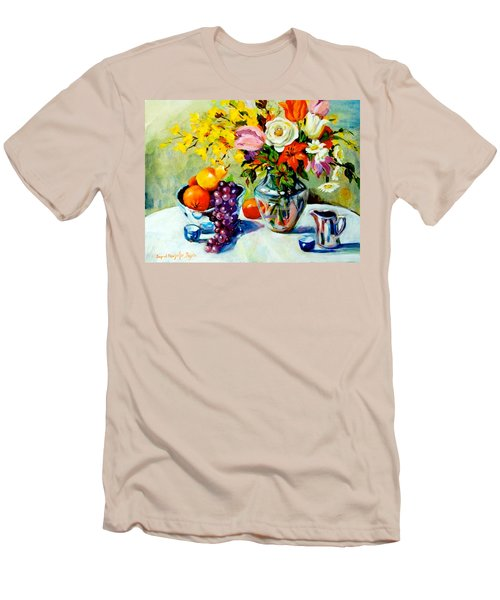 Still Life Creamer Men's T-Shirt (Slim Fit) by Alexandra Maria Ethlyn Cheshire