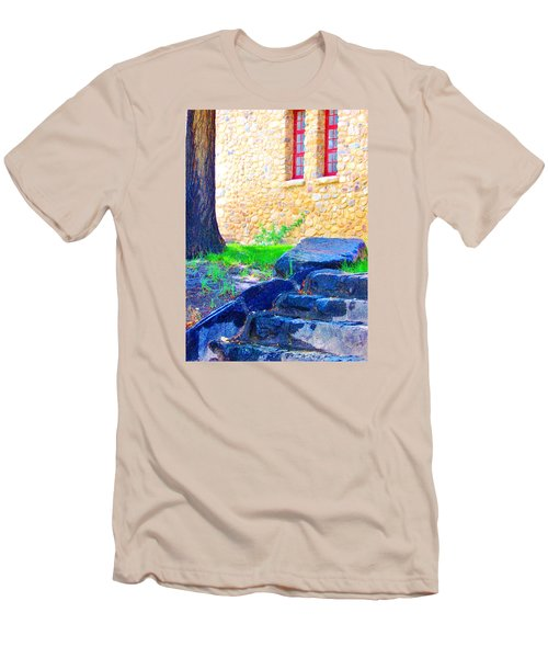 Men's T-Shirt (Slim Fit) featuring the photograph Stone Steps by Marilyn Diaz