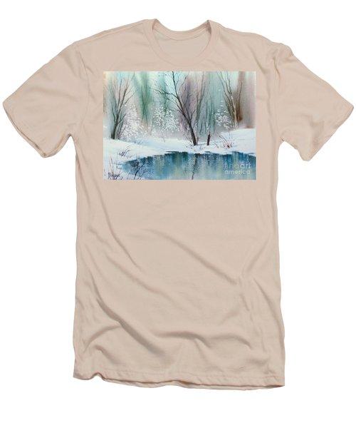 Stream Cove In Winter Men's T-Shirt (Slim Fit) by Teresa Ascone