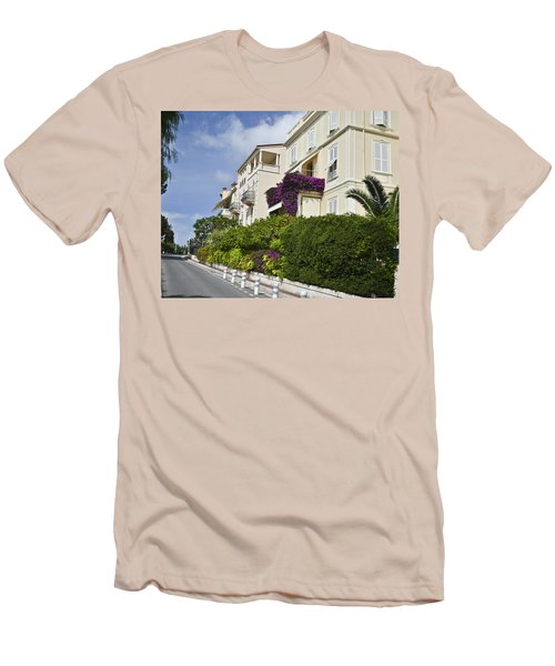 Men's T-Shirt (Slim Fit) featuring the photograph Street In Monaco by Allen Sheffield
