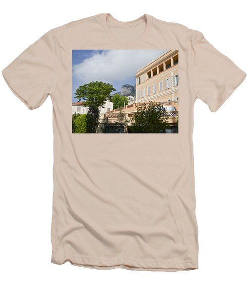 Men's T-Shirt (Slim Fit) featuring the photograph Street Of Monaco by Allen Sheffield