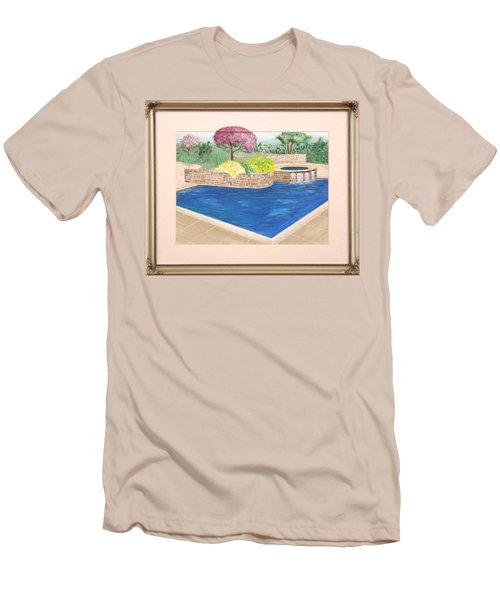 Men's T-Shirt (Slim Fit) featuring the painting Summer Days by Ron Davidson