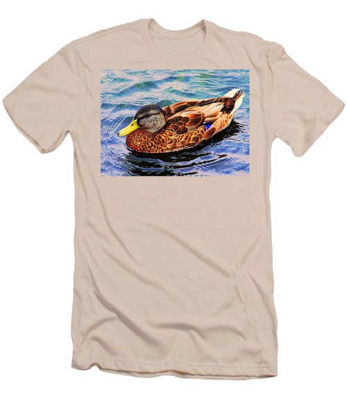 Men's T-Shirt (Slim Fit) featuring the photograph Summer Swim by Denyse Duhaime