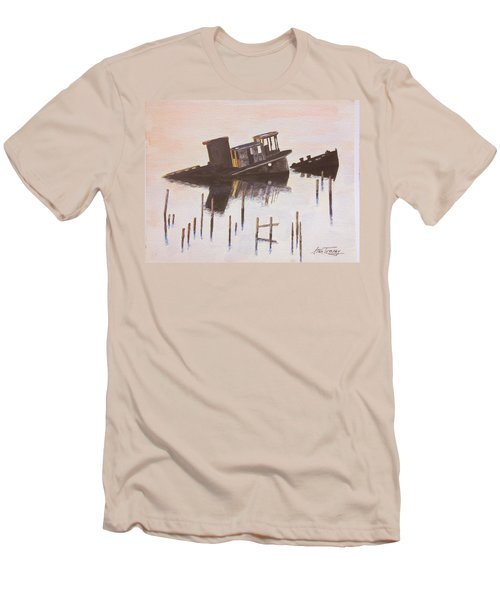Sunken Boat Men's T-Shirt (Slim Fit) by Stan Tenney