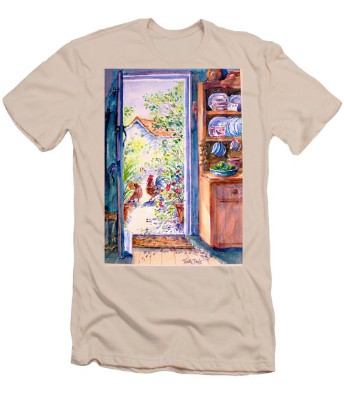 Sunlit Cottage Doorway  Men's T-Shirt (Athletic Fit)