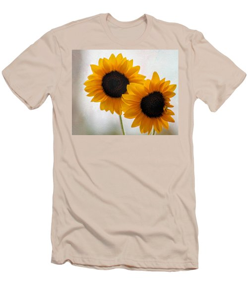 Sunny Flower On A Rainy Day Men's T-Shirt (Slim Fit) by Tammy Espino