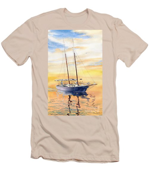 Sunset Cruise Men's T-Shirt (Slim Fit) by Melly Terpening