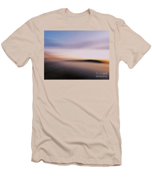 Sunset Island Dreaming Men's T-Shirt (Slim Fit) by Andy Prendy