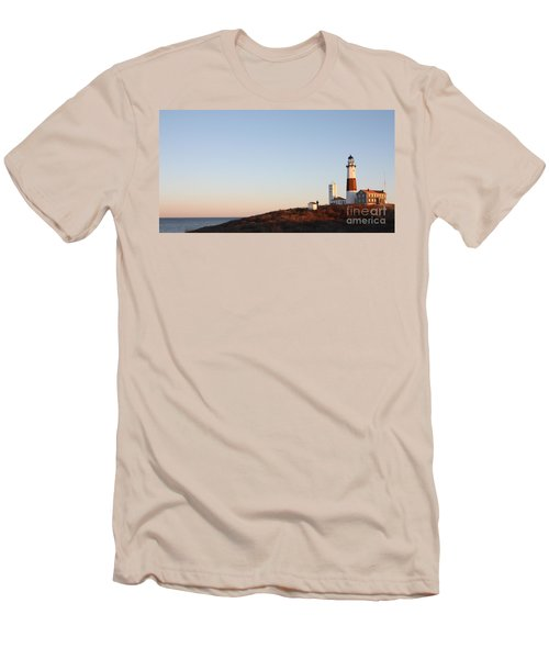Sunset Over Montauk Lighthouse Men's T-Shirt (Athletic Fit)