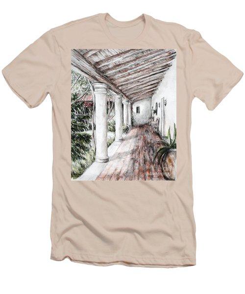 Sunshine On Portico Men's T-Shirt (Slim Fit) by Danuta Bennett