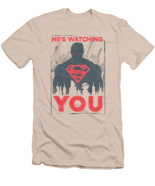 Superman - He's Watching You Men's T-Shirt (Athletic Fit)