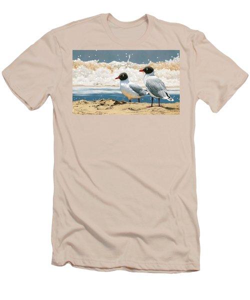 Surf 'n' Turf - Franklin's Gulls Men's T-Shirt (Athletic Fit)