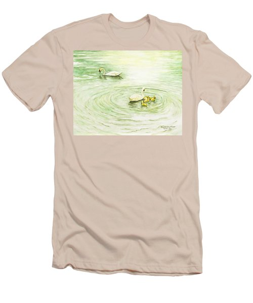 Swans In St. Pierre Men's T-Shirt (Athletic Fit)