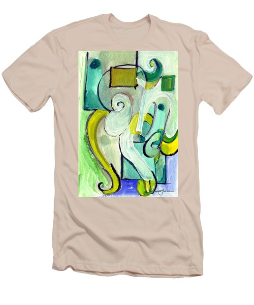Men's T-Shirt (Slim Fit) featuring the painting Symphony In Green by Stephen Lucas