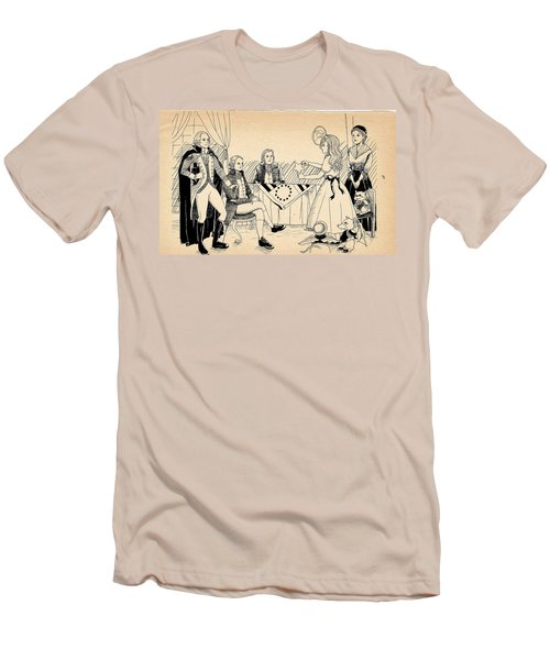 Men's T-Shirt (Slim Fit) featuring the drawing Tammy Meets Betsy Ross by Reynold Jay