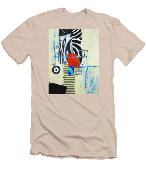 Men's T-Shirt (Slim Fit) featuring the mixed media Target by Elena Nosyreva