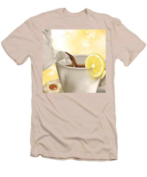 Tea Time Men's T-Shirt (Slim Fit) by Veronica Minozzi