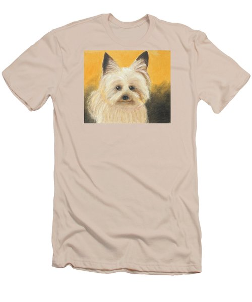 Men's T-Shirt (Slim Fit) featuring the painting Terrier by Jeanne Fischer