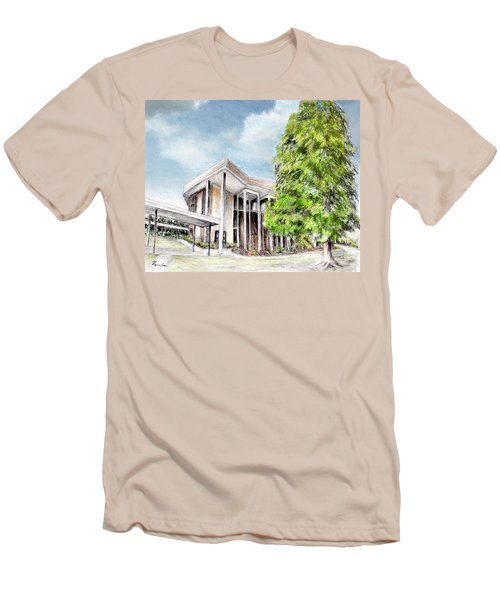 The Angles Of A Modern Architecture  Men's T-Shirt (Slim Fit) by Danuta Bennett