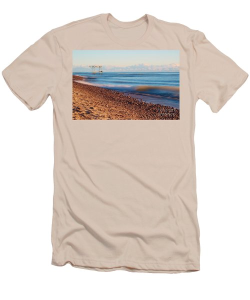 Men's T-Shirt (Slim Fit) featuring the photograph The Boat Hoist by Patrick Shupert