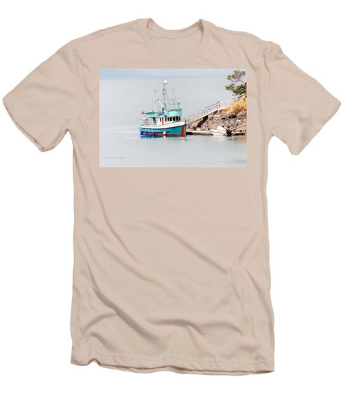 Men's T-Shirt (Slim Fit) featuring the photograph The Boat by Jim Thompson