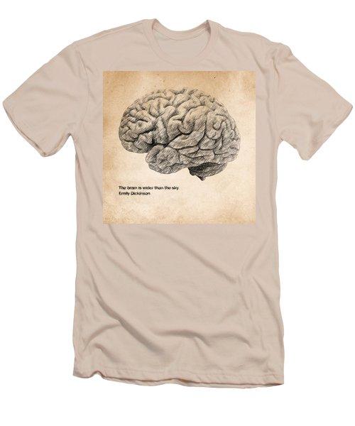 The Brain Is Wider Than The Sky Men's T-Shirt (Slim Fit) by Taylan Apukovska