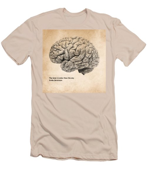 The Brain Is Wider Than The Sky Men's T-Shirt (Athletic Fit)