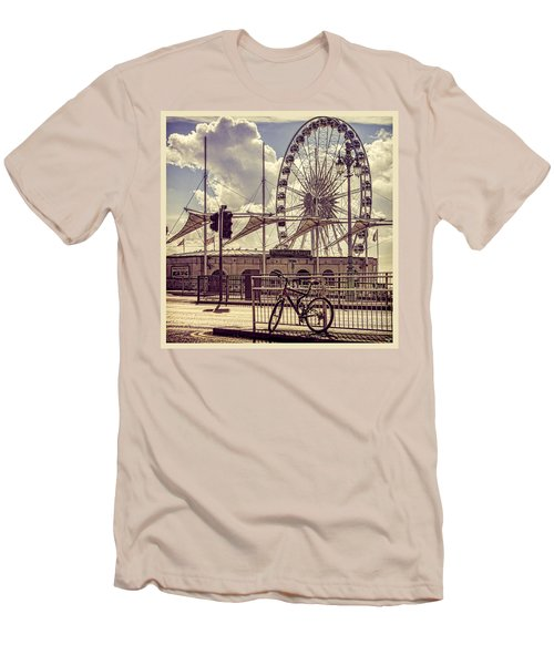 Men's T-Shirt (Slim Fit) featuring the photograph The Brighton Wheel by Chris Lord