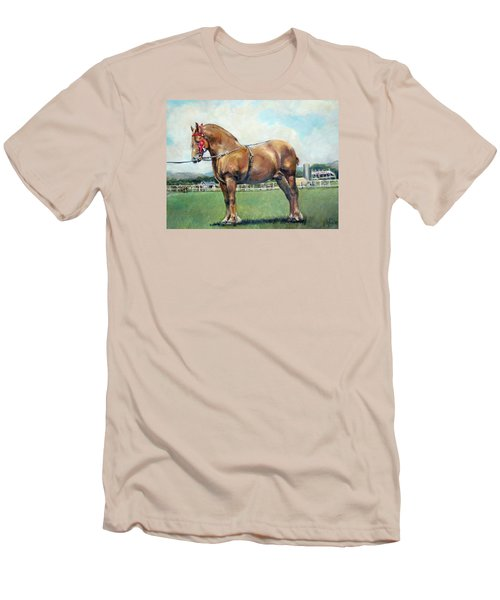 Men's T-Shirt (Slim Fit) featuring the painting The Champ by Donna Tucker