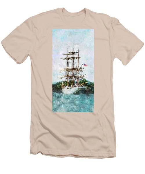 Tall Ship Eagle Has Landed Men's T-Shirt (Slim Fit) by Marianne Campolongo