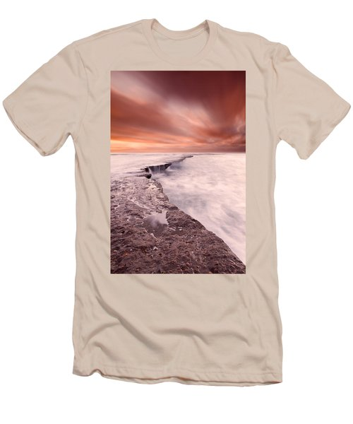 The Edge Of Earth Men's T-Shirt (Athletic Fit)