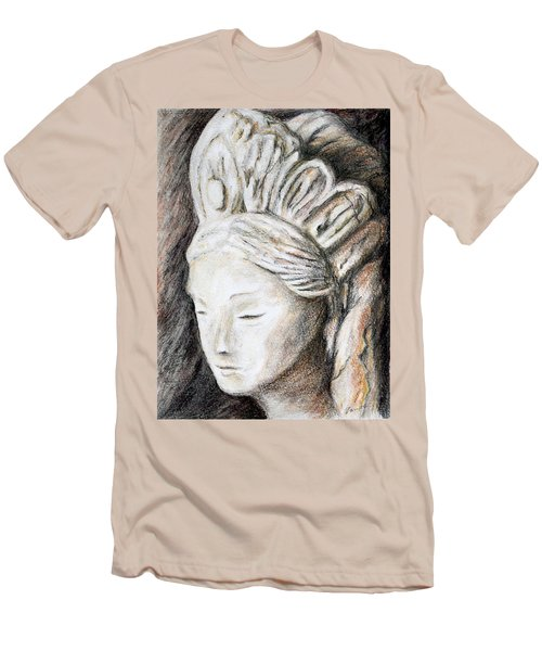 The Face Of Quan Yin Men's T-Shirt (Slim Fit) by Danuta Bennett