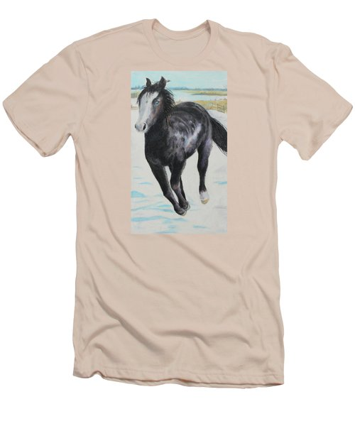 The Feel Of The Cool Air Men's T-Shirt (Slim Fit) by Jeanne Fischer