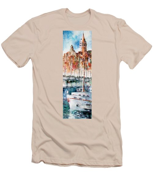The Ferry Arrives At Galata Port - Istanbul Men's T-Shirt (Athletic Fit)