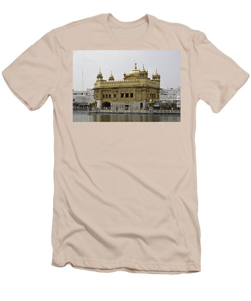 The Golden Temple In Amritsar Men's T-Shirt (Slim Fit) by Ashish Agarwal